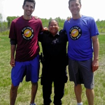 (Left to right) John, Officer Halverson and Kirk